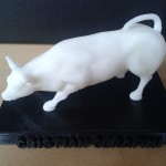 Riproduzione in scala del toro di Wall Street personalizzato pre-trattamento
