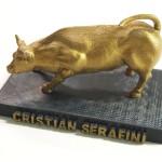 Riproduzione in scala del toro di Wall Street personalizzato e verniciato a mano
